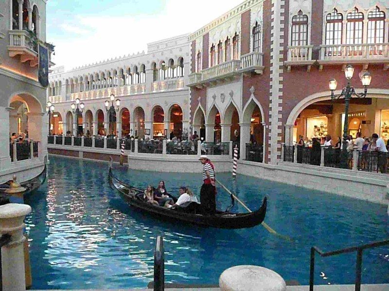 Las Vegas gondels in de Venetian