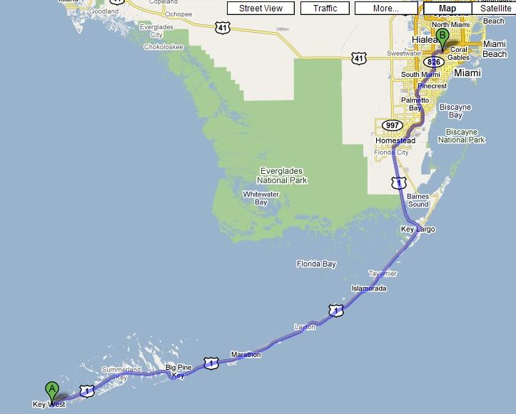 Key West to Miami