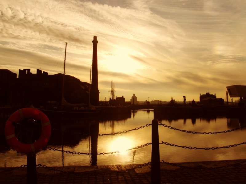 The Albert Dock.