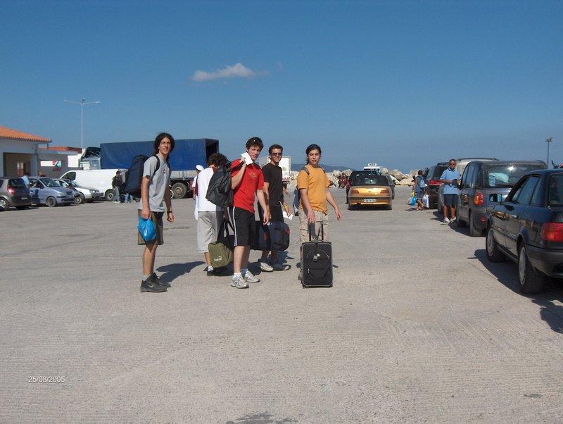 Alonissos harbour before departure