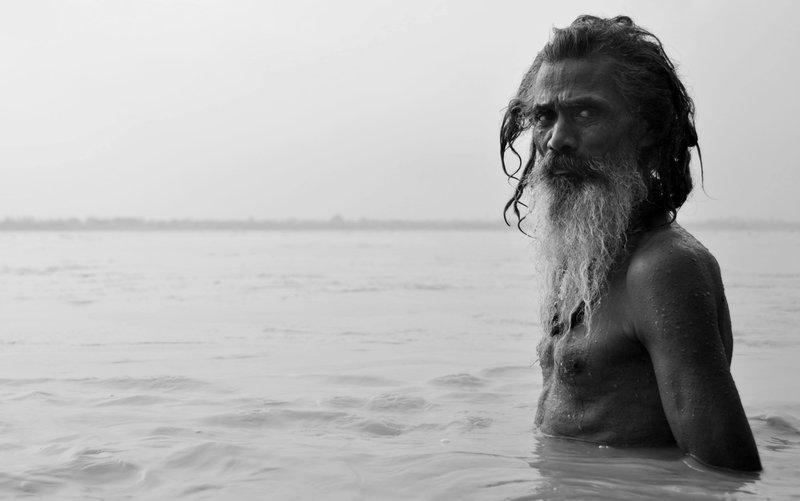 Bathing in the Gange