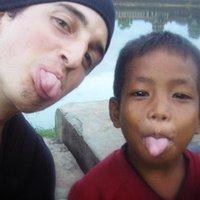 Me and my little friend in Angkor, Cambodia