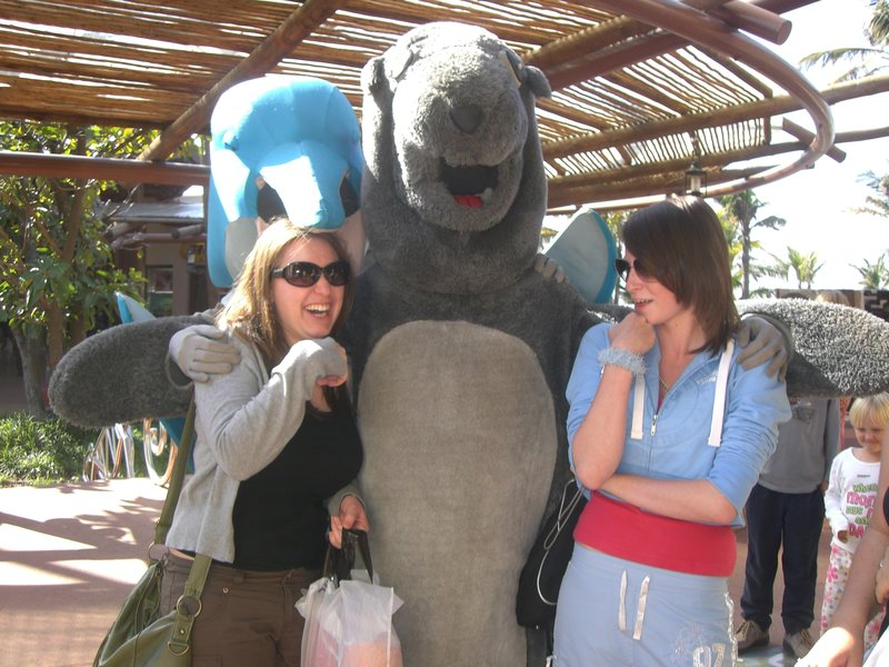 Me, Danielle, a seal & a dolphin trying to eat me!