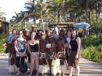 us with Zulu dancers