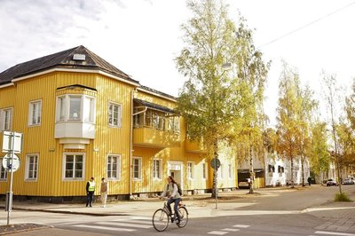 Wooden houses in Umeå