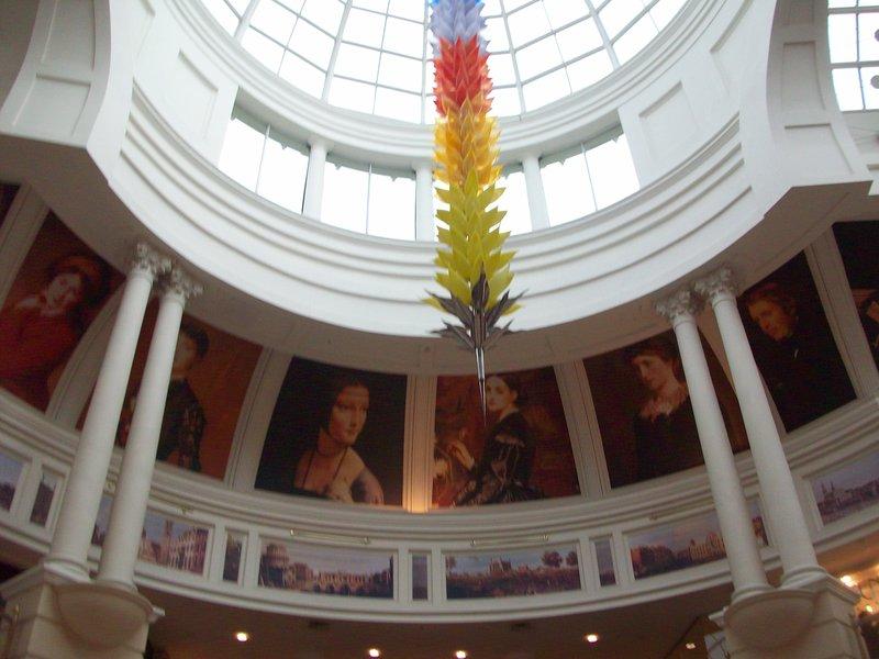 Die Kuppel im Einkaufszentrum