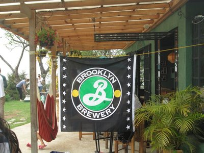 The Brooklyn Banner Flying at Earth Lodge