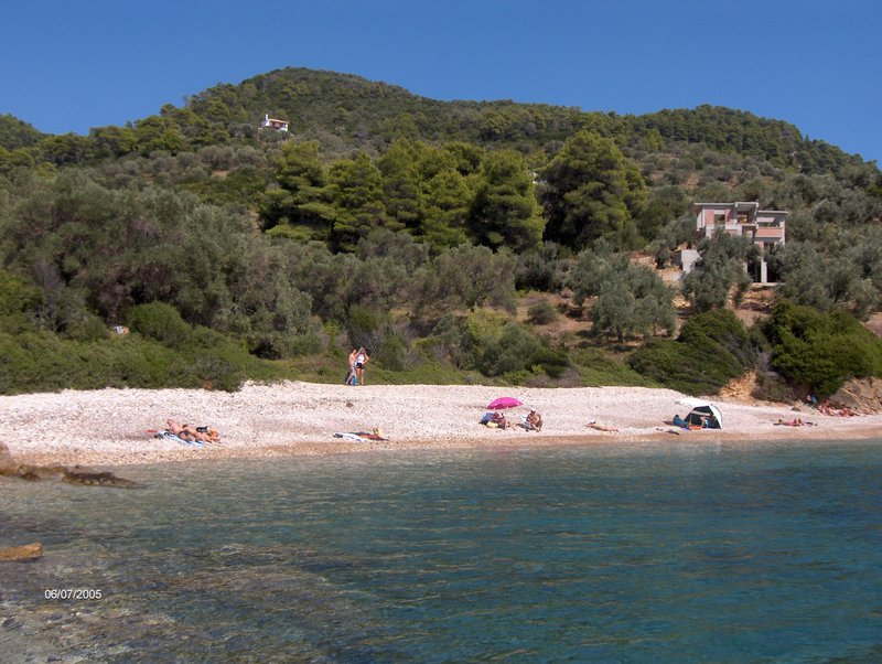 Megali Ammos beach on Alonissos