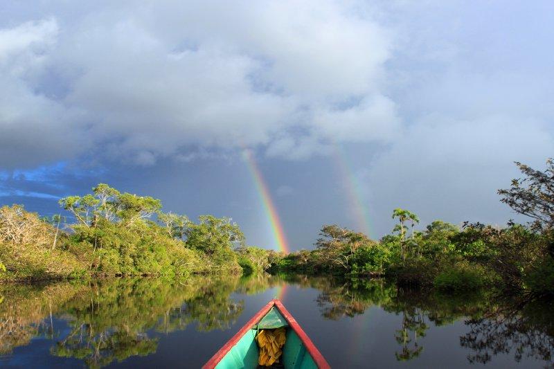 Amazon Rainbow over the Lagoon