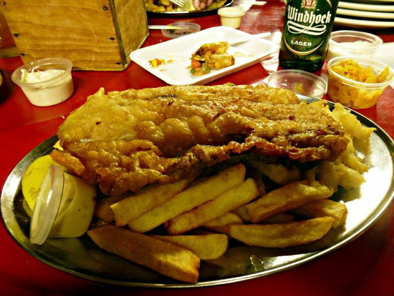 Kalk Baai - Snoek and chips