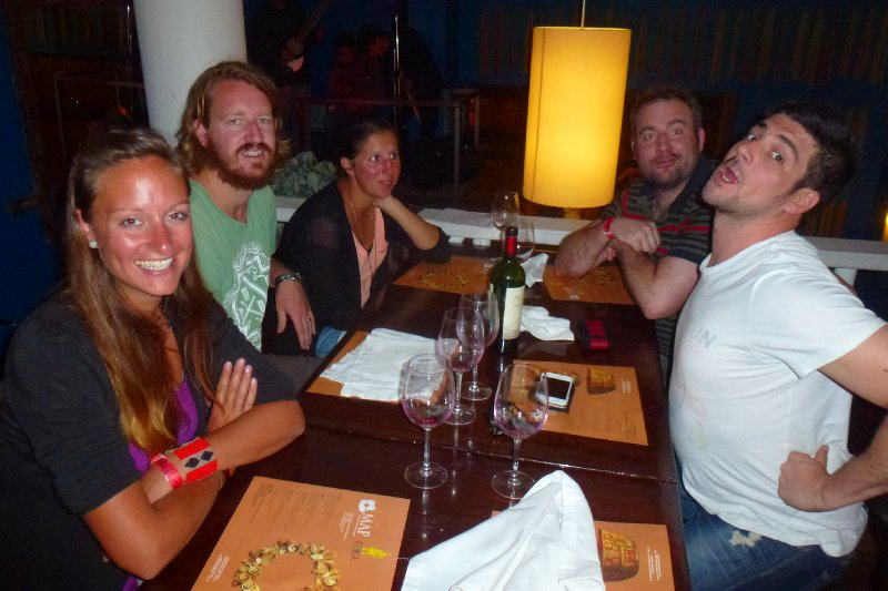 Diner in Cusco with a few friends