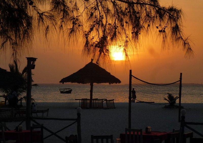 Perfect beach setting