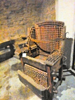 Criminal Museum - do not want to be in that chair...