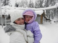 Me and my daughter in Finland