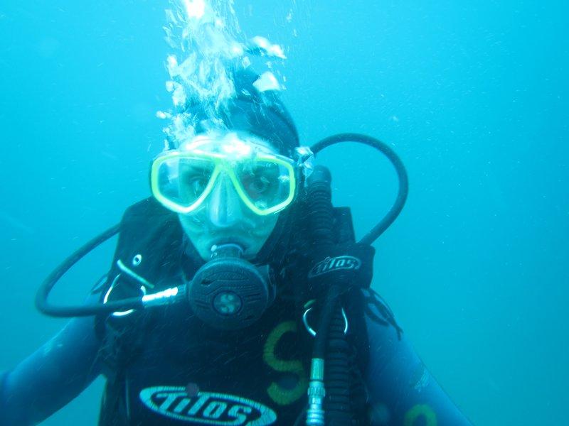 Me diving