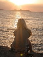 Sunset in Ibiza when I worked there