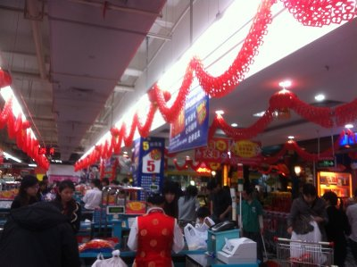 Check out lane at carrefour