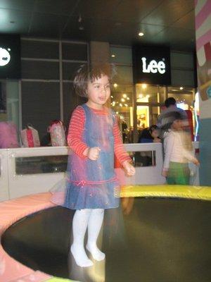 Ellie on the trampoline