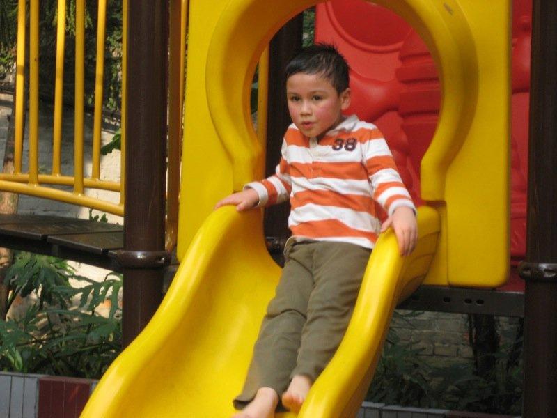 Skyler on the slide