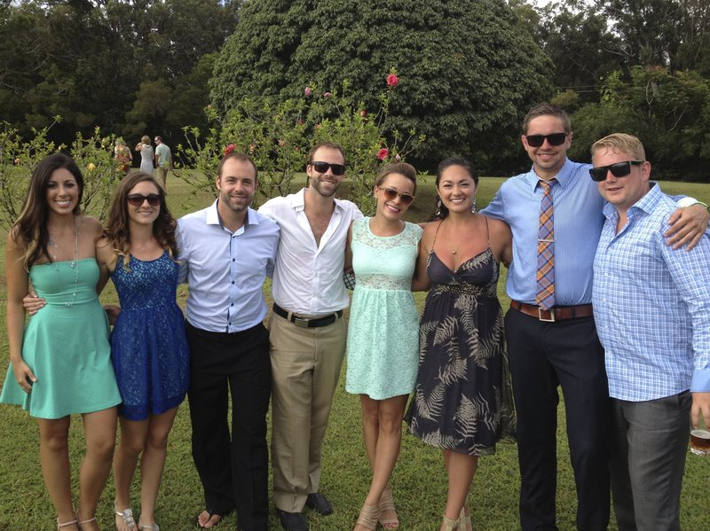 Good friends at an amazing Hawaii Wedding