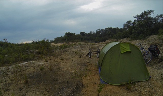 Chalk Quarry I had to camp in