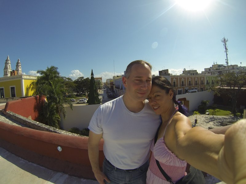 Scott and I in Campeche New years