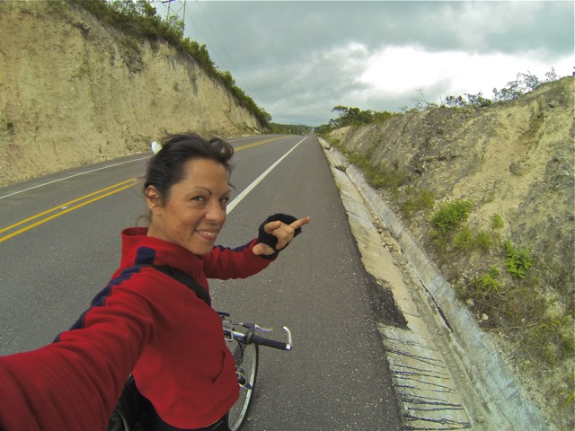 On the road from Xipujil to Chetumal