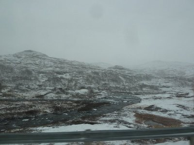 The bleak landscape from Highway 50 above Aurland