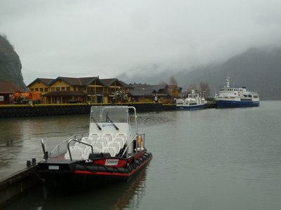 The Flam Ferry Port at the bottom of Aurlandsfjord