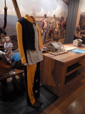Convict uniform on display in Sydney's Hyde Park Barracks