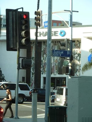 The intersection of Sunset and Vine at the heart of Hollywood