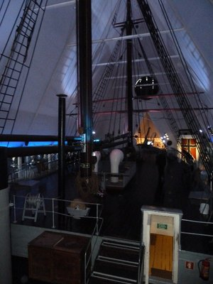 The deck of the polar ship Fram inside its museum at Bygdoy