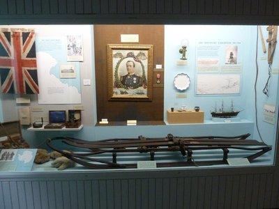 Display of artifacts from Captain Scott's ill-fated trip to the South Pole in Christchurch's Canterbury Museum