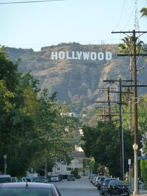 The Hollywood Sign from Beechwood Drive