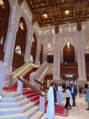 Main Staircase at the Royal Opera House Muscat