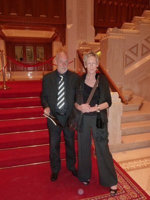 Sally and Dave at the Royal Opera House Muscat