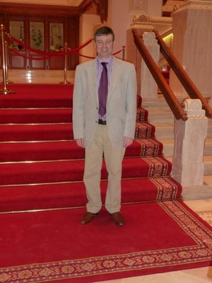 Me on the steps of the Royal Opera House Muscat