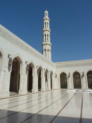 The inner sahn and central minaret