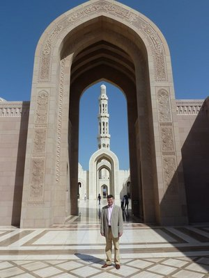 The main transept of the Sultan Qaboos Grand Mosque