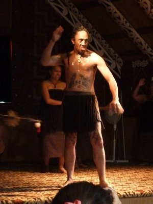 Male Maori Dancer performing the Haka (War Dance) - you wouldn't want to upset him...