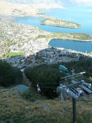 The Gondola back down to Queenstown