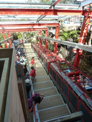 The Scenic World Railway about to leave its Top Station for the Rainforest floor