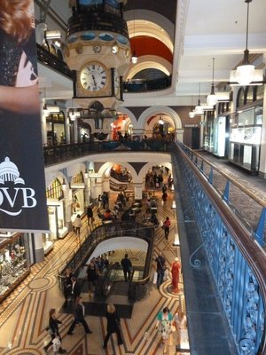 Inside the Queen Victoria Building on George Street