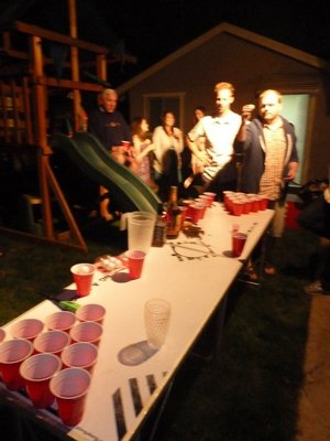 It's getting late - time for Beer Pong!