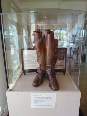 Ronald Reagan's riding boots