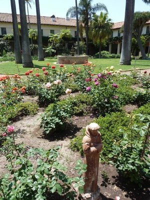 The Sacred Garden inside Santa Barbara Mission