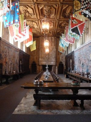 The 'Refectory' or dining room inside the Casa Grande
