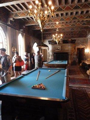 The Billard Room inside the Casa Grande