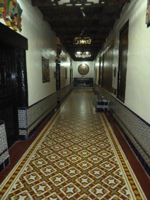 Corridor in the old part of the Rosarito Beach Hotel