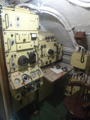 Sonar Room aboard the b-427 Scorpion
